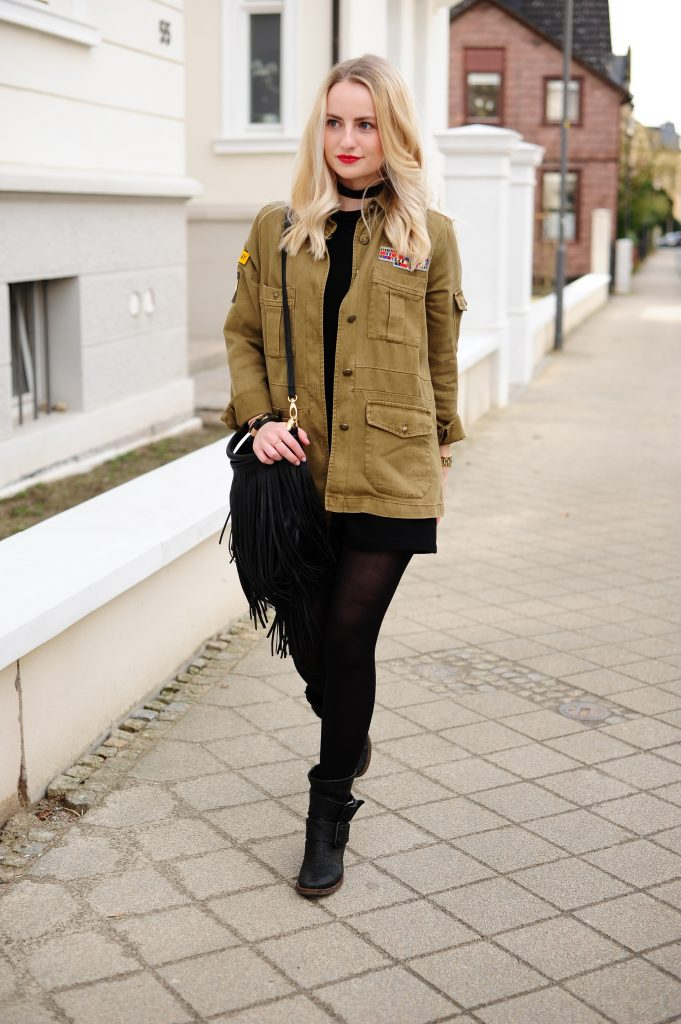 Military & All Black Look
