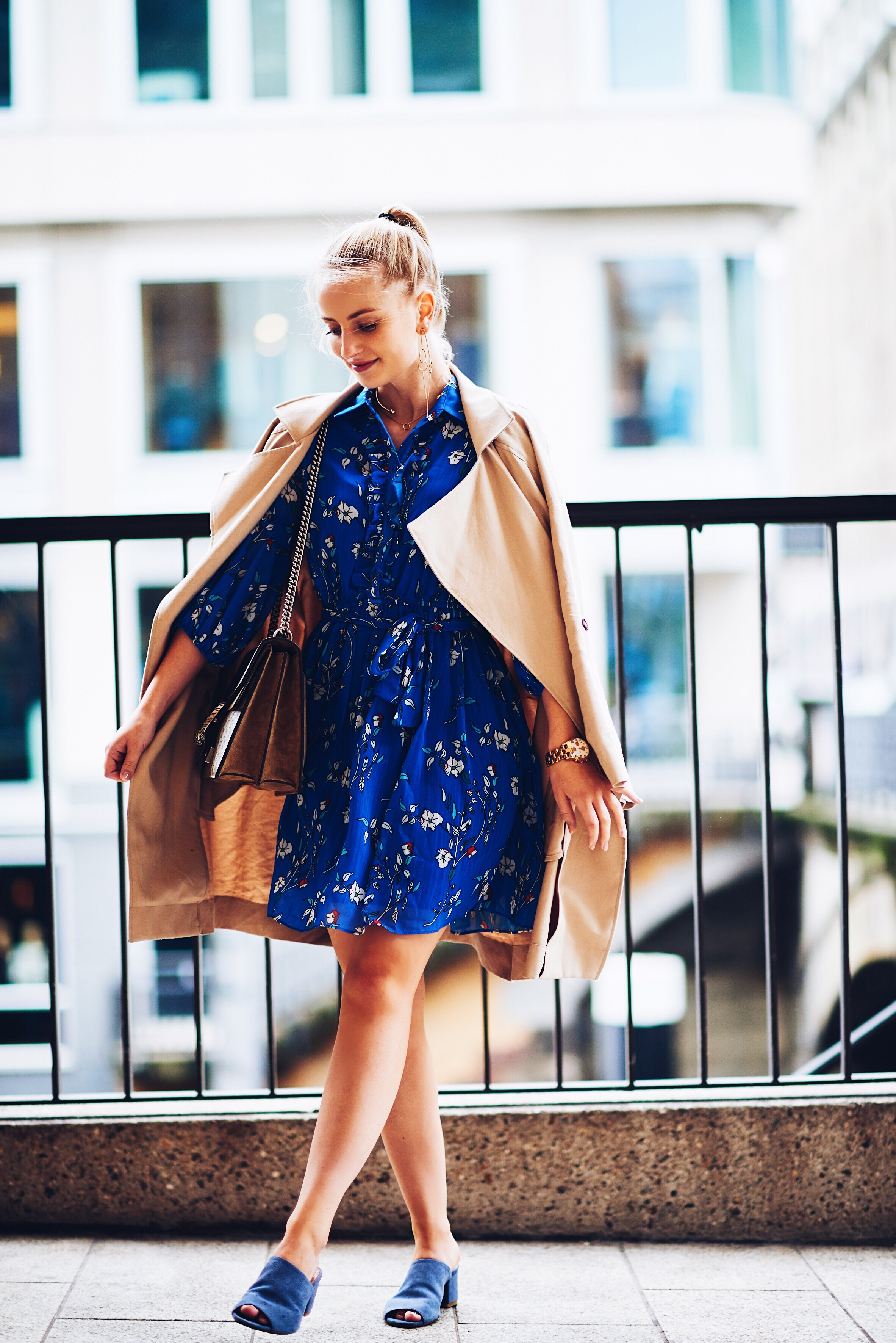 Coffee to Go: Floral Shirt Dress - KIM ENGEL