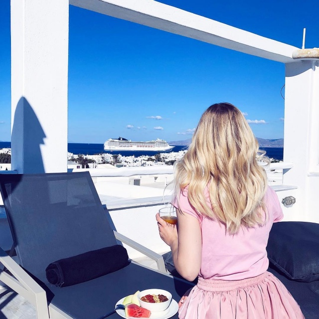 Breakfast with a view rocharihotel greece vacation holidaymood